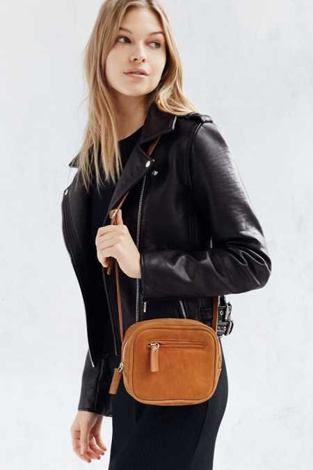 Cooperative Suede Square Zip Crossbody Bag
