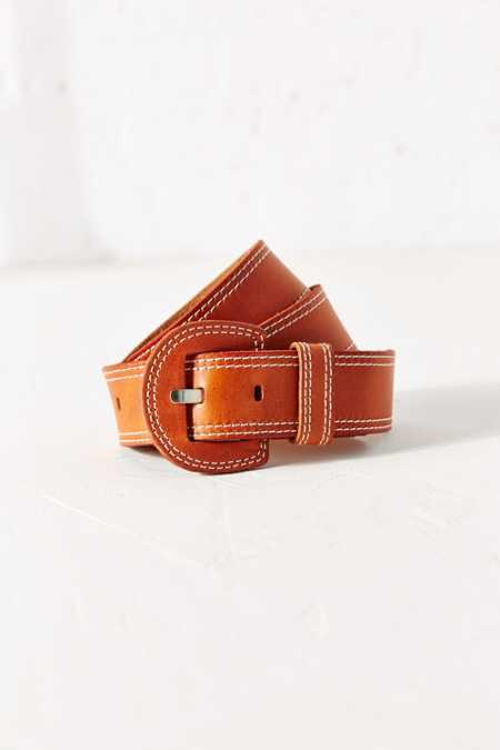 Cooperative Wide Stitch Leather Belt