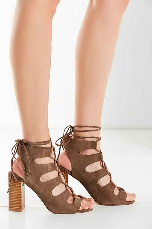 Jeffrey Campbell Allow Lace-Up Heel,TAUPE,8