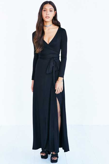 Ecote Exaggerated Wrap Knit Maxi Dress