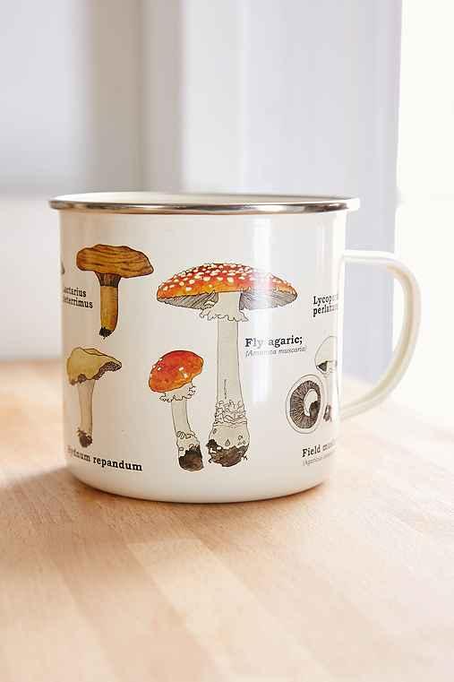 Enamel Mushroom Mug,BEIGE,ONE SIZE