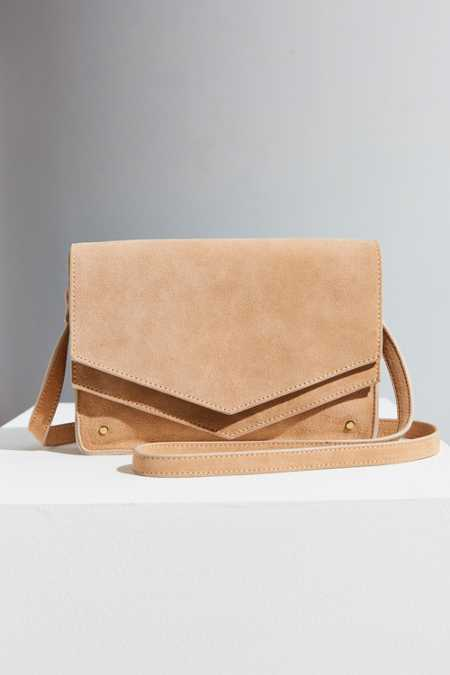 BDG Double Flap Crossbody Bag