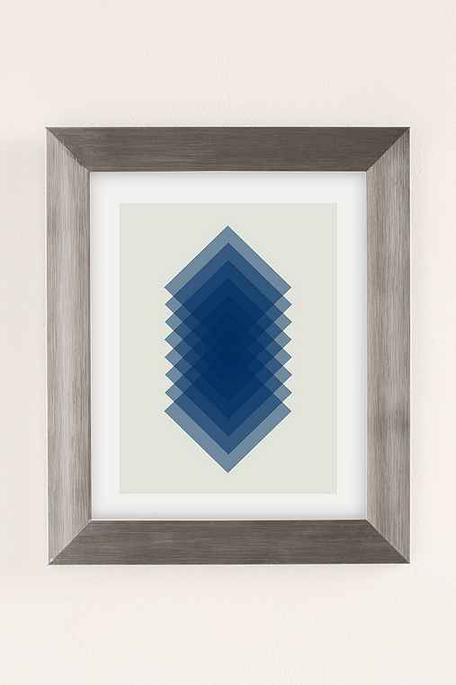 Angela Ferrara Sky Slices Art Print,SILVER MATTE FRAME,8X10