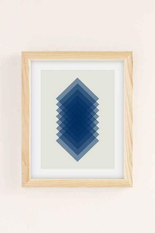 Angela Ferrara Sky Slices Art Print,NATURAL WOOD FRAME,18X24