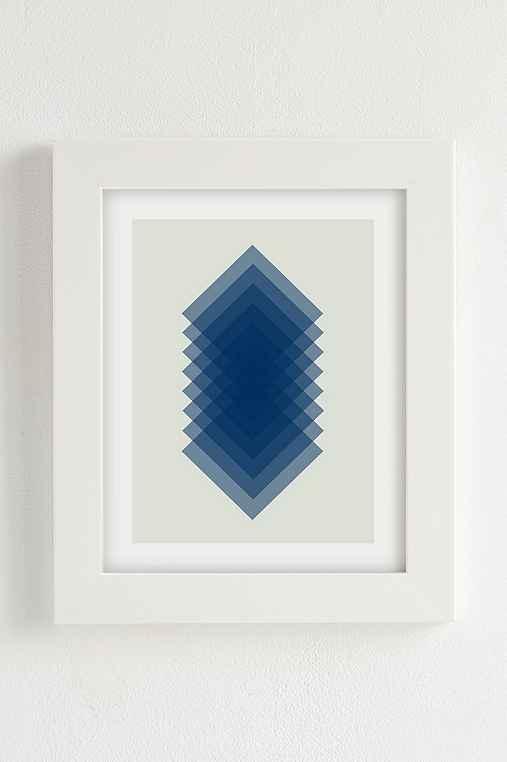 Angela Ferrara Sky Slices Art Print,WHITE MATTE FRAME,30X40