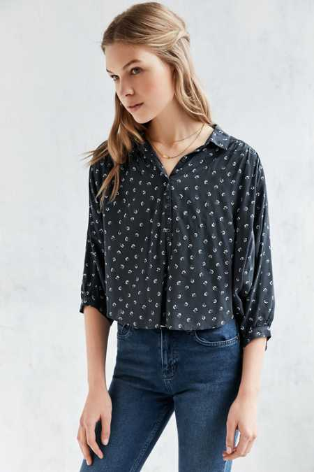 Kimchi Blue Pattaya Button-Down Shirt
