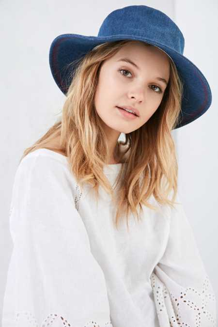 Rinsed Denim Oversized Bucket Hat
