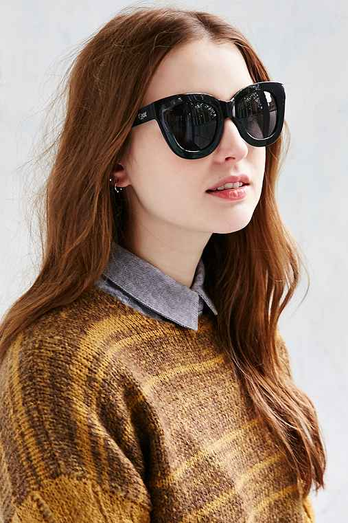 Quay Sugar + Spice Sunglasses,BLACK,ONE SIZE