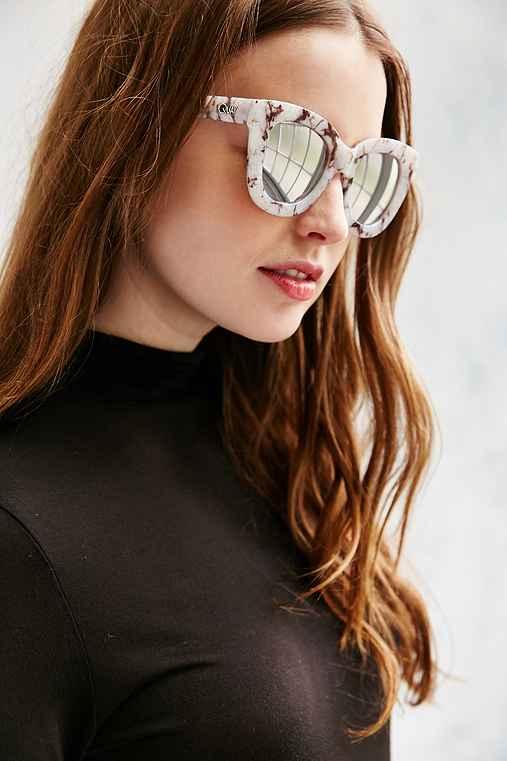 Quay Sugar + Spice Sunglasses,WHITE,ONE SIZE