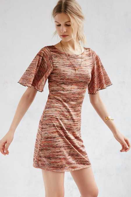 Ecote Mabel Flutter Sleeve Mod Mini Dress