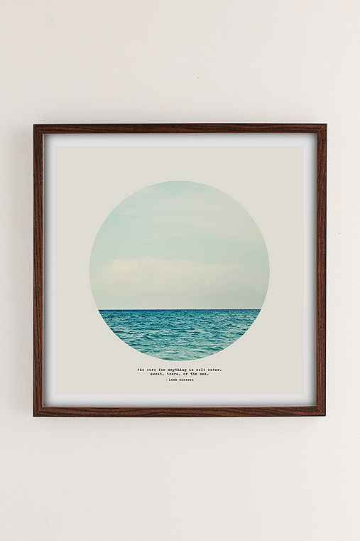 Tina Crespo Salt Water Cure Art Print,WALNUT WOOD FRAME,16X16