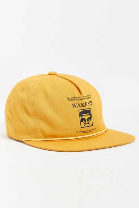 OBEY Wake Up Snapback Hat