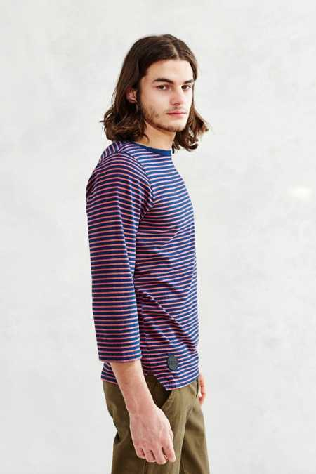 Native Youth Indigo Breton Stripe Tee