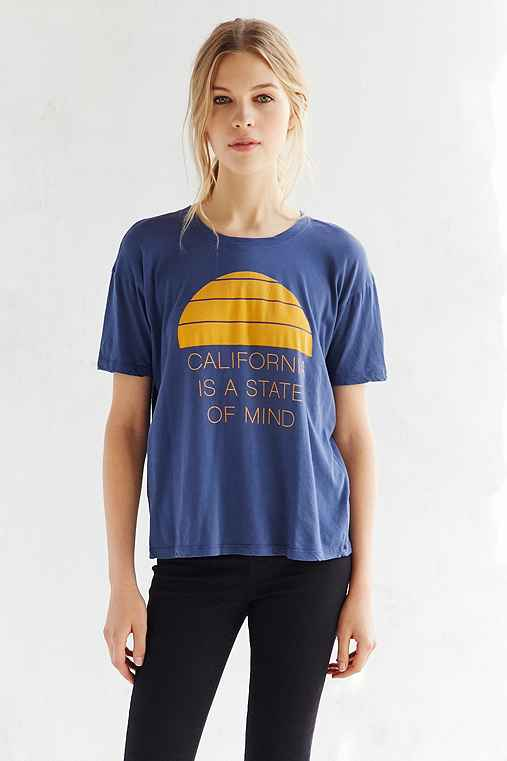 Truly Madly Deeply California State Of Mind Tee,NAVY,S