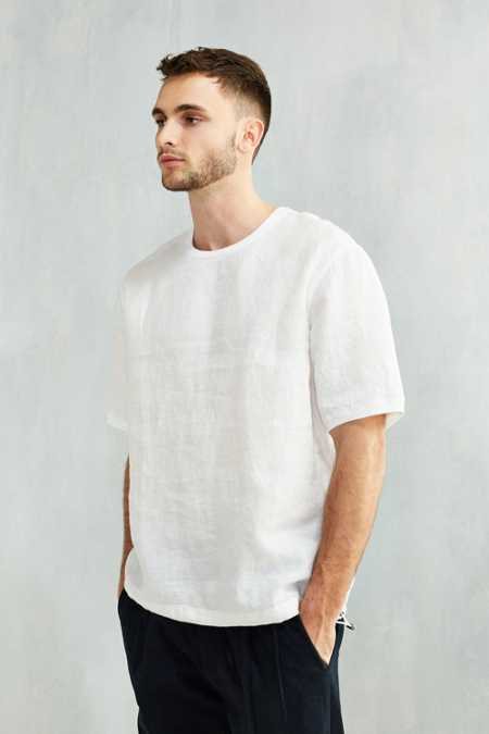 Shades Of Grey By Micah Cohen Woven Linen Tee