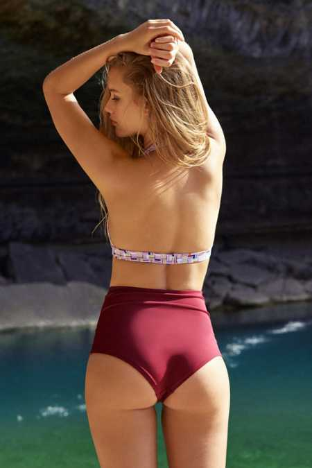 Out From Under Solid High-Waisted Bikini Bottom