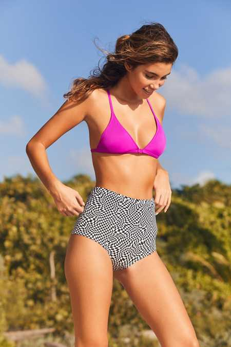 Out From Under Printed Flat High-Waisted Bikini Bottom