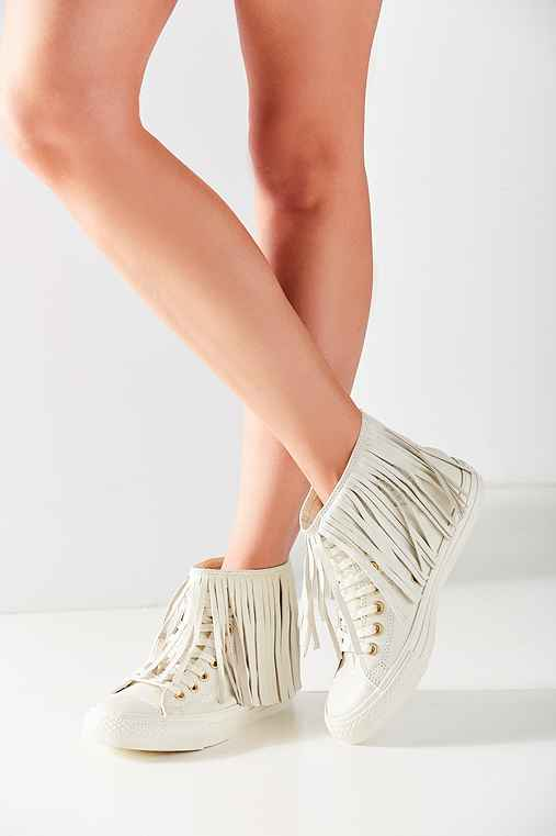 Converse Chuck Taylor All Star Fringe Sneaker,WHITE,8.5
