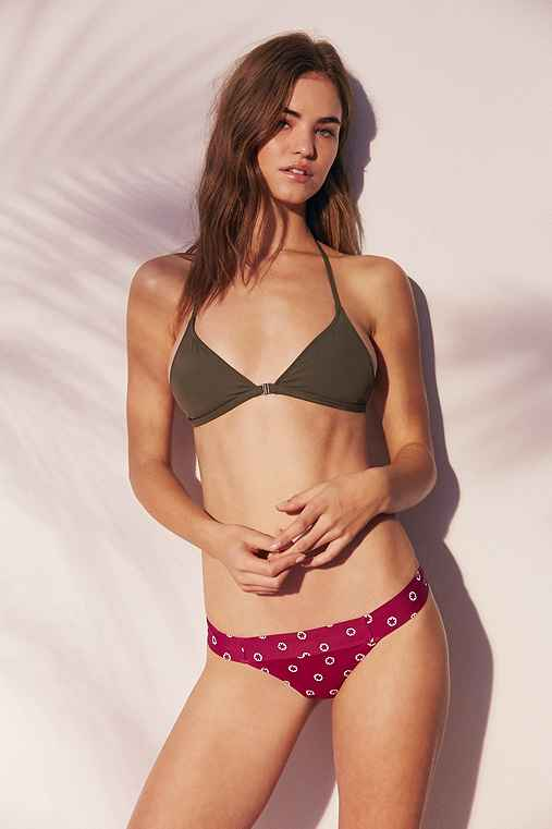 Out From Under Printed Wide Band Bikini Bottom,BERRY,M