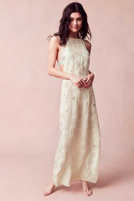 Out From Under Robyn Eyelet Maxi Slip Dress