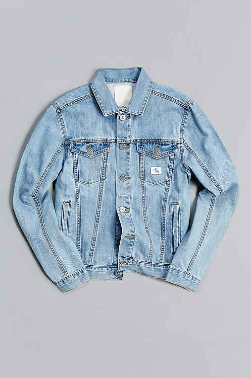 Calvin Klein X UO Re-Issue Denim Trucker Jacket,LIGHT BLUE,L