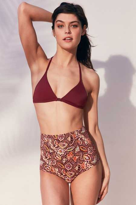Out From Under Solid Triangle Racerback Bikini Top