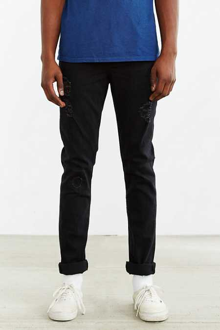 Cheap Monday Grey Destroyed Skinny Jean