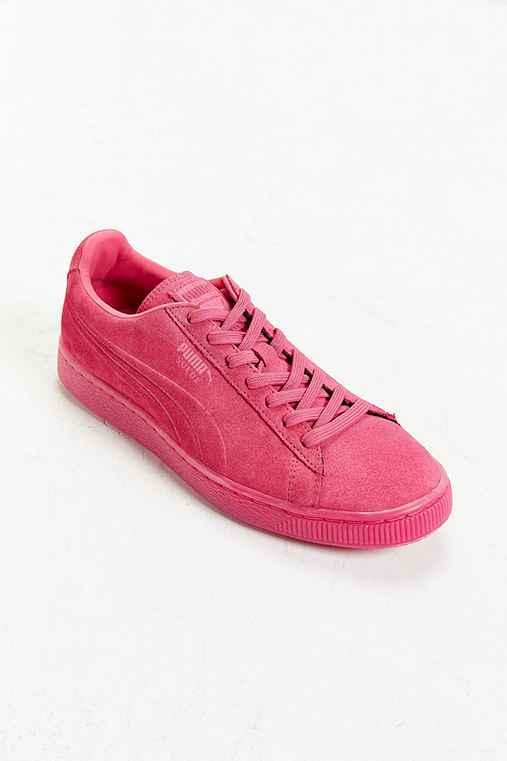 Puma Suede Mono Sneaker,PINK,M 9/W 10.5