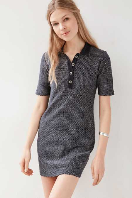 Cooperative Calvin Textured Knit Polo Dress