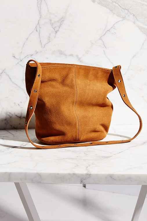 Ecote Suede Drape Shoulder Bag,BROWN,ONE SIZE