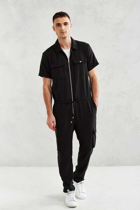 Shades Of Grey By Micah Cohen Short-Sleeve Zip Front Coverall