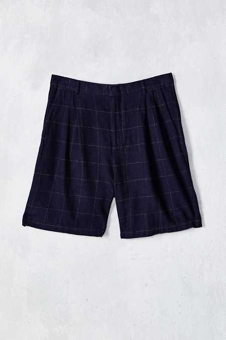 Shades Of Grey By Micah Cohen Windowpane Pleated Short