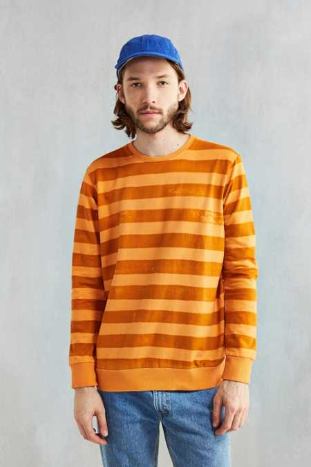 Mowgli Surf Early Morning Stripes Crew Neck Sweatshirt