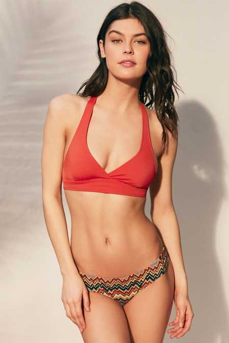 Out From Under Solid Halter Bikini Top
