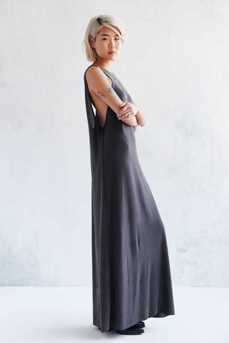 Silence + Noise Avaline Two-Way Cupro Maxi Dress