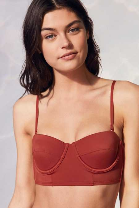 Out From Under Solid Longline Underwire Bikini Top