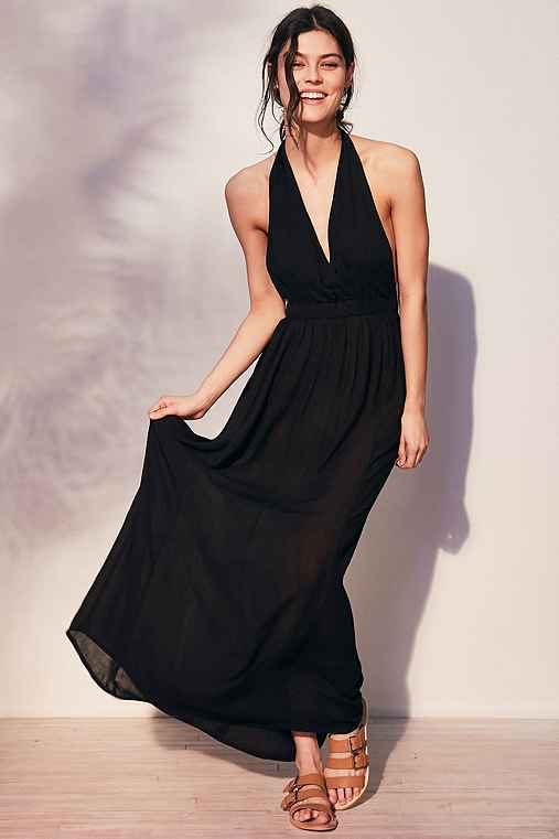 Out From Under Carolina Maxi Slip,BLACK,M