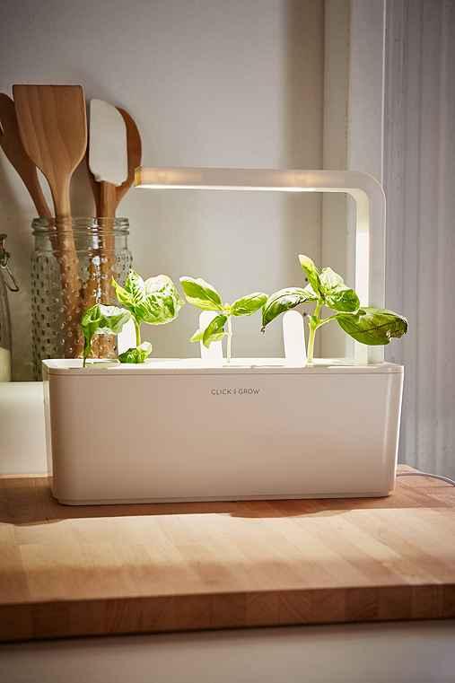 Click & Grow Smart Herb Garden Starter Kit,WHITE,ONE SIZE