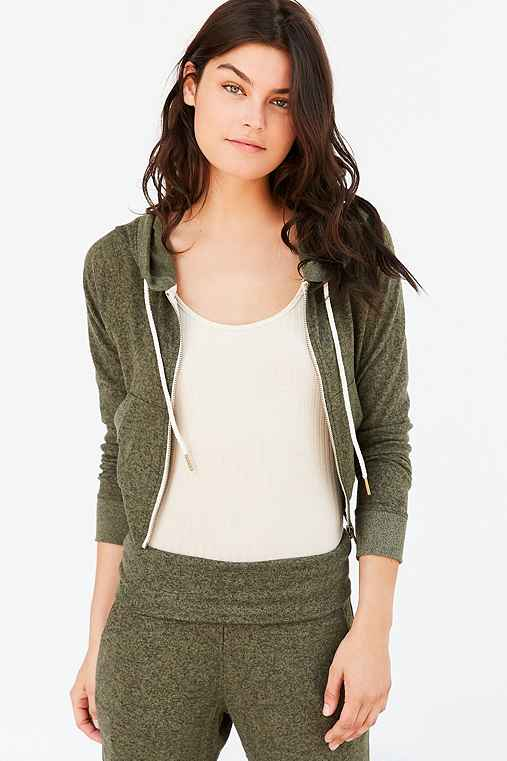 Out From Under Brynn Cozy Hoodie Sweatshirt,GREEN,XS