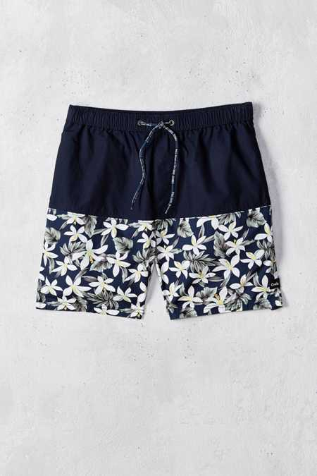 Barney Cools Tide Floral Blocked Swim Short