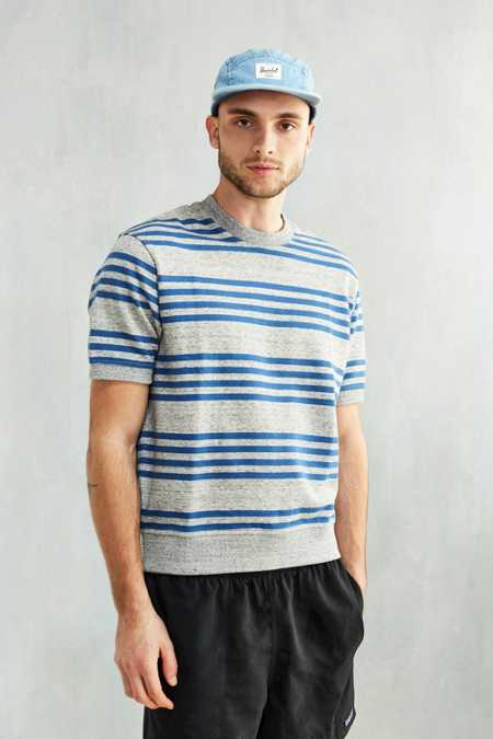 CPO Rally Stripe Short-Sleeve Sweatshirt