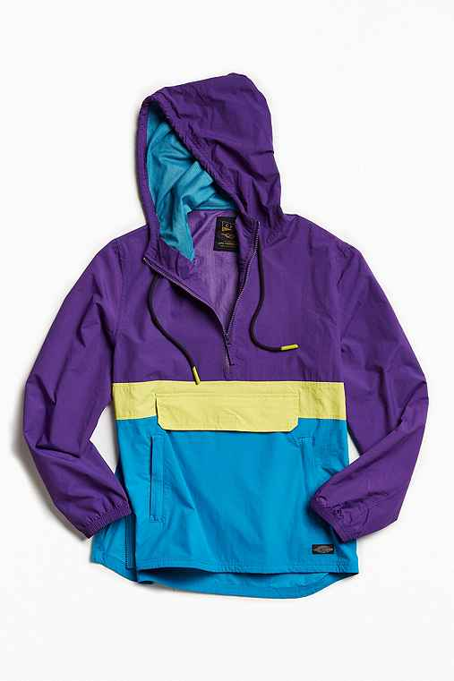 CPO Citywide Colorblock Anorak Jacket,PURPLE,S