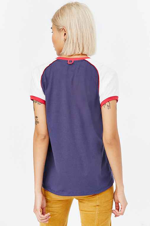 Camp Collection Lou Ringer Tee,NAVY,M