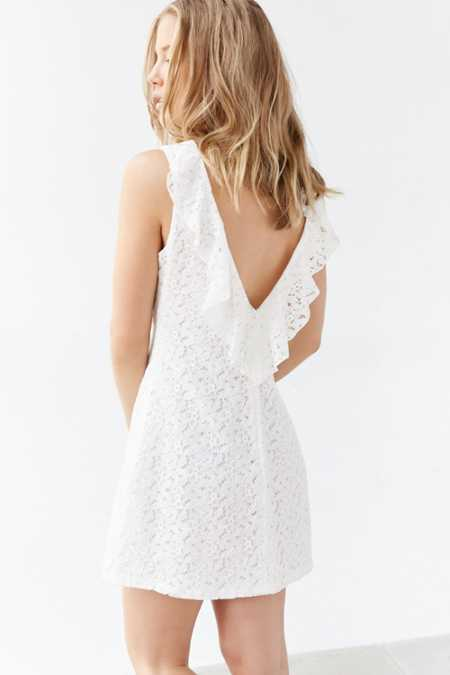 Kimchi Blue Lace Plunge-Back Frock Dress