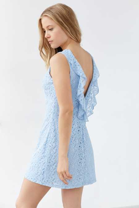 Kimchi Blue Plunge-Back Lace Frock Dress