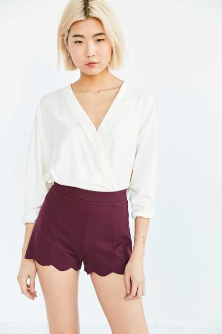 Cooperative Pull-On Ponte Scallop Short
