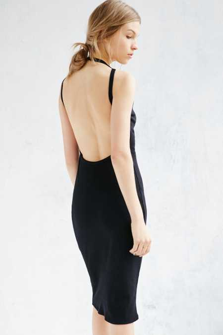 Silence + Noise Harness Strap Open Back Dress