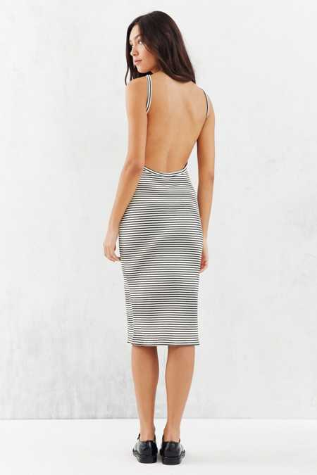 Silence + Noise Harness Strap Open-Back Dress