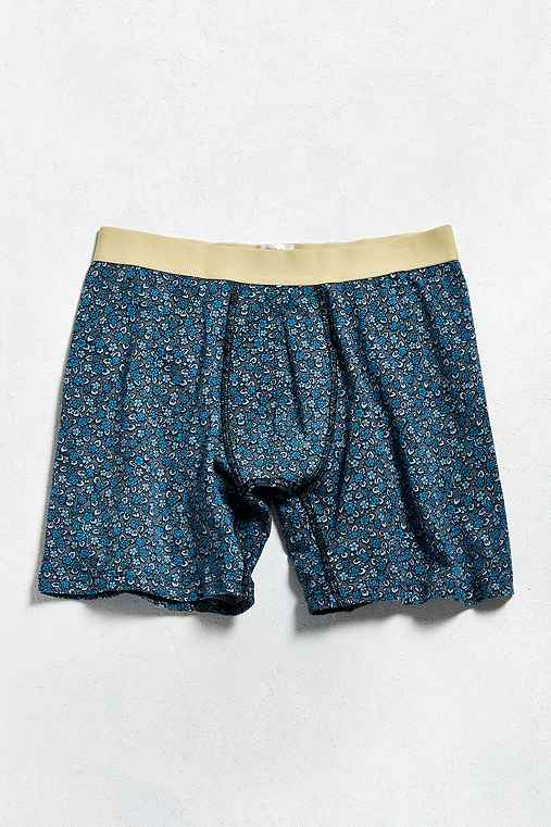 Floral Boxer Brief,BLUE,M