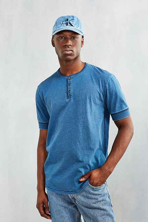 CPO Brougham Short-Sleeve Henley Shirt,VINTAGE DENIM LIGHT,S